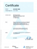 DIN ISO 9001:2008 Certificate 2017
